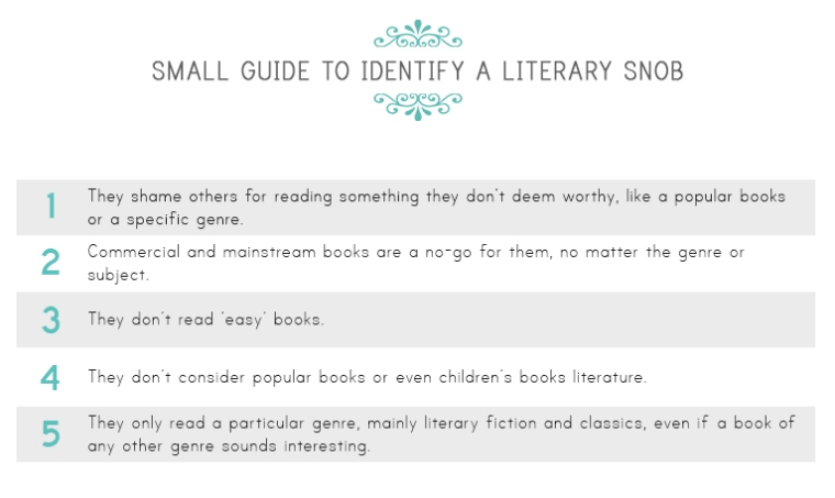 Small guide to identify literary snobs